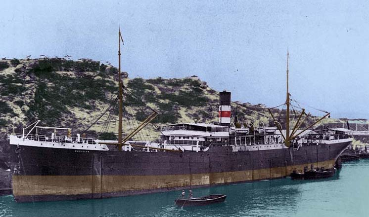 SS Magician at Willemstad, Curacoa