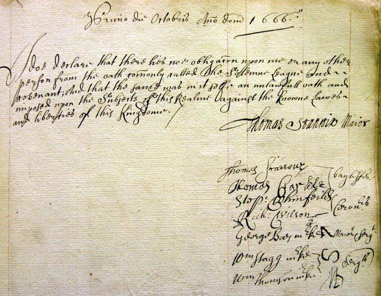 Carlisle Council 1666