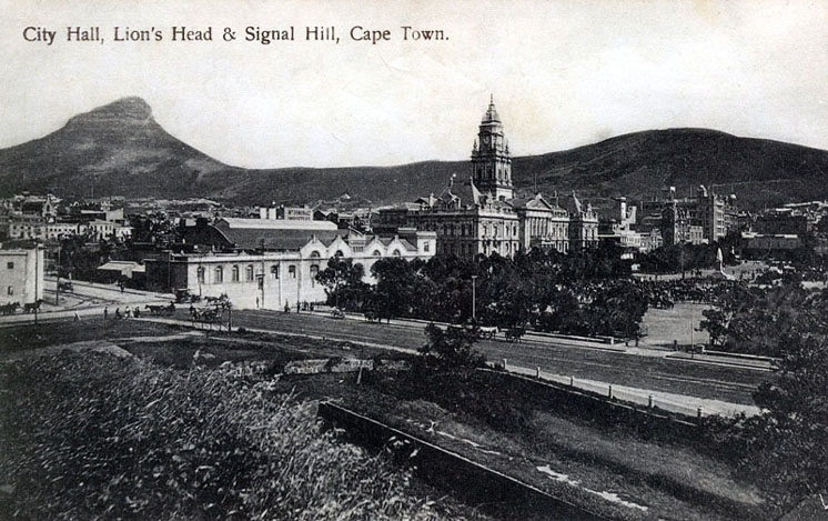 City Hall and Lion's Head, Cape Town circa 1900