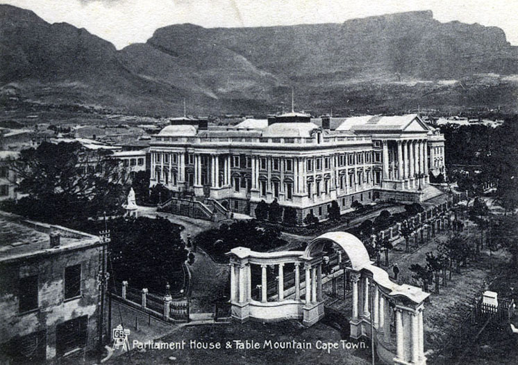 Parliament House and Table Mountain, Cape Town circa 1900