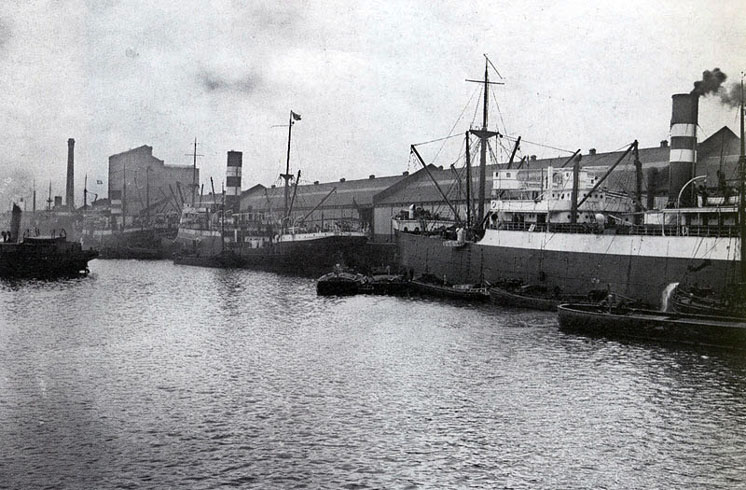 Liverpool Brunswick Dock with Harrison Ships