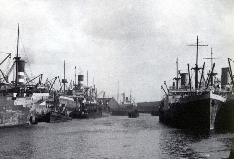Liverpool Toxteth Dock with Harrison Ships