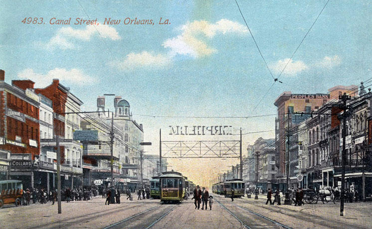 Canal Street, New Orleans, circa 1900