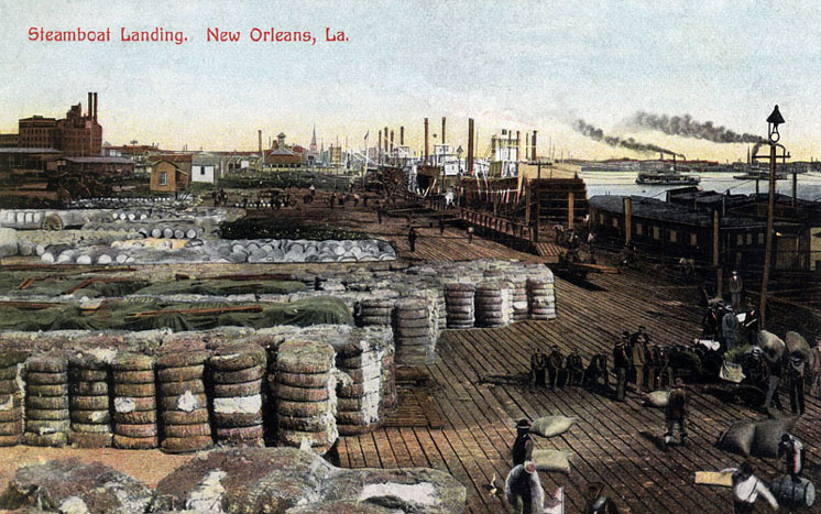 Steamboat Landing, New Orleans, circa 1900