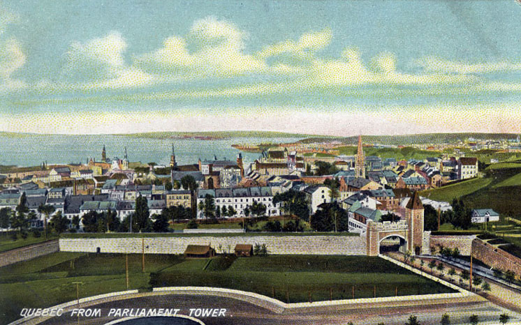 Quebec from Parliament Tower, circa 1900